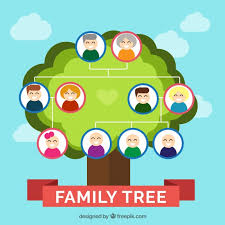 vector pretty family tree in flat design vectorpicker