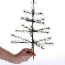 skinny artificial feather tree pick christmas trees and toppers