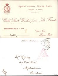 file with best wishes from the front 1915 highland
