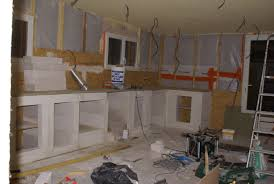 construire une cuisine fabriquer sa cuisine en beton cellulaire formidable table 0 meuble