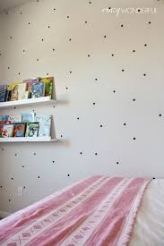 Little Girls Bedroom Wall Decals Decorations Pretty Pink Bedroom Design With Colorful Polka