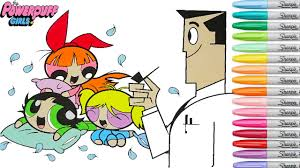powerpuff girls coloring book blossom buttercup bubbles pillow