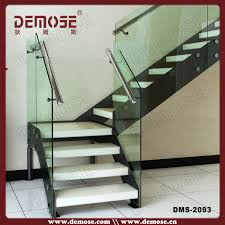 Metal Stairs Design L Shape India Tempered Glass Granite Stairs Design With Anti Slip