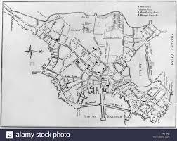 Boston Massachusetts Map by Boston Map 1770 Nengraved Map Of Boston Massachusetts 1770