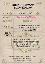 Baby Shower Instead Of A Card Bring A Book A Baby Shower Idea For Book Lovers
