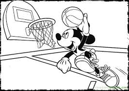 basketball coloring pages mickey mouse jump shoot colorine net