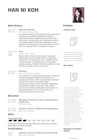 Teaching Assistant Resume Sample by Resume For Teaching Assistant Cover Letter Examples For Teacher