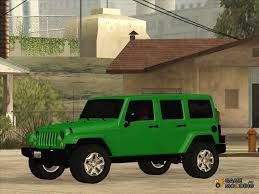 jeep unlimited green jeep wrangler unlimited rubicon 2013 for gta san andreas