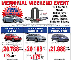 toyota on sale toyota memorial day sales 2012 bay area toyota dealer bay