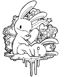 love color pages rabbits love coloring love coloring