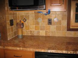 interior using peel and stick floor tile on kitchen walls