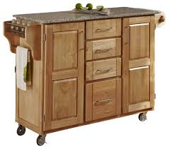 oak kitchen island with granite top create a cart white finish with cherry top transitional