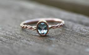 pierscionek zareczynowy pierścionek zaręczynowy z akwamarynem różowe złoto arpelc