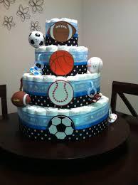 gender reveal diaper cake boy or baby shower diaper cake for