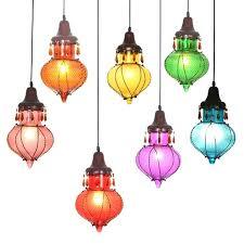 Colored Glass Pendant Lights Multi Colored Glass Pendant Lights Megaups Me