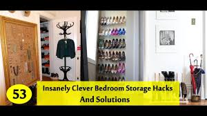 53 insanely clever bedroom storage hacks and solutions youtube