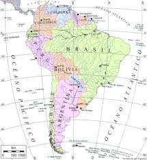 map of south america in south america map in