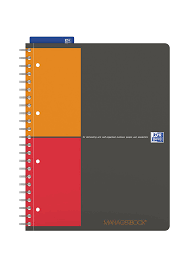 Oxford Esselte Folders Oxford International A4 Card Cover Refill Pad Orange Black Red