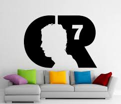 cristiano ronaldo wall vinyl decal real madrid cr7 sticker zoom
