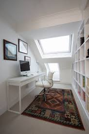 contemporary home office design with besta burs desk from ikea and