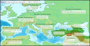Map Of Mediterranean Europe maps of neolithic bronze age u0026 iron age migrations in europe and