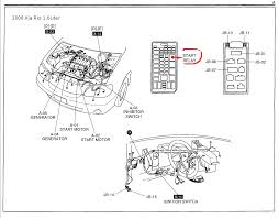 kia rio questions where is the starter relay switch located on a