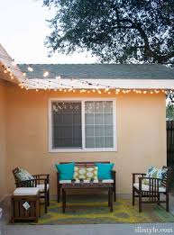 How To Hang Patio Lights How To Install Cafe Lights U0026 Patio Reveal Illistyle
