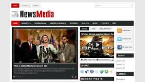news media blogger template btemplates