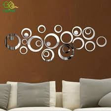 compare prices on home decor wall mural online shopping buy low 24pcs diy circles mirror wall stickers removable vinyl art mural wall stick home decor for room