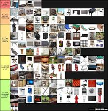 does it or list it leave the furniture furniture tier list tierlists