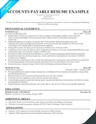 resume objective exles for accounting clerk descriptions in spanish sle resume for accounts payable