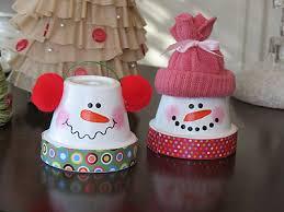 Decorating Clay Pots Kids Nice Diy Snowmen From Terra Cotta Pots