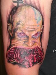 mario tattoos skull evil by mario