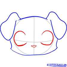 draw a puppy face step by step drawing sheets added by dawn