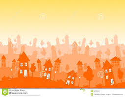 House Silhouette by Sunny Silhouette City Houses Skyline Stock Images Image 32361224