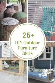 Diy Patio Furniture Diy Outdoor Furniture Ideas The Idea Room