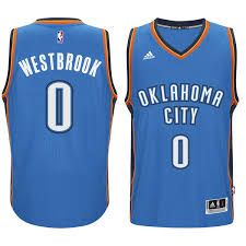 westbrook oklahoma city thunder adidas player swingman road