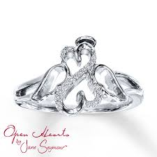 kay jewelers open heart kay open hearts angel ring 1 20 ct tw diamonds sterling silver