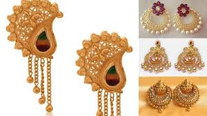 gold earrings for marriage 22k gold drop earring earrings collection earrings