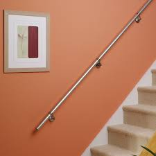Stainless Steel Banisters Stainless Steel Handrail Kit L 3600mm Departments Diy At B U0026q