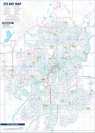 Edmonton Canada Map by Edmonton Transport Map