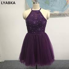 graduation dresses for high school aliexpress buy purple prom dresses 2017 tulle