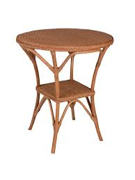 bistro wicker dining table base cottage home