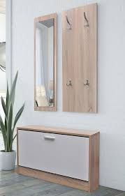 cabinet for shoes and coats modern hallway set bench cabinet wooden shoes storage mirror hanger