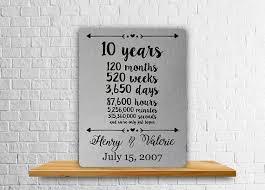 ten year anniversary gifts 10 year anniversary gift aluminum print wedding gift