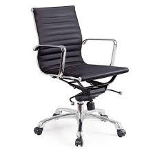 fauteuil de bureau cuir noir chaise de bureau design et confortable sellingstg com