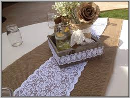Burlap Lace Table Runner 33 Creative Diy Table Runners Ideas Table Decorating Ideas