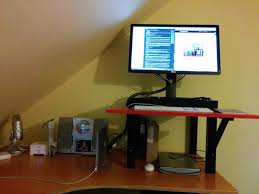 is a 22 stand up desk hack suitable for editing u2014