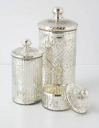 mercury glass canisters etched mercury glass jar table lamp