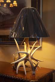 drop tine art deer antler lamps and accessories